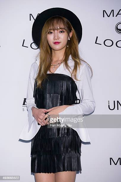 Jia of girl group Miss A attends the Mag And Logan 2016 S/S Collection on October 21 2015 in Seoul South Korea