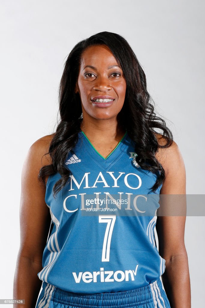 Jia Perkins #7 of the Minnesota Lynx poses for portraits during 2017 Media Day on May 1, 2017 at the Minnesota Timberwolves and Lynx Courts at Mayo Clinic Square in Minneapolis, Minnesota.