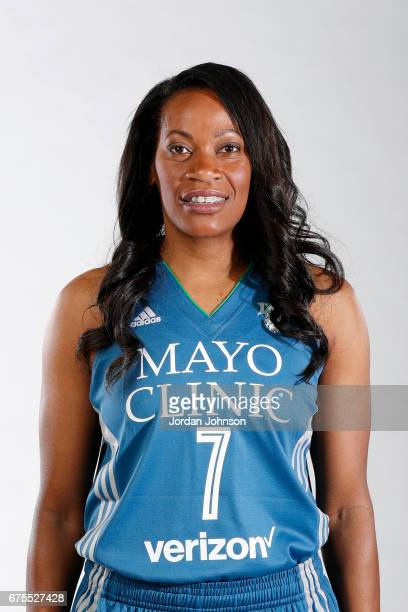 Jia Perkins of the Minnesota Lynx poses for portraits during 2017 Media Day on May 1 2017 at the Minnesota Timberwolves and Lynx Courts at Mayo...