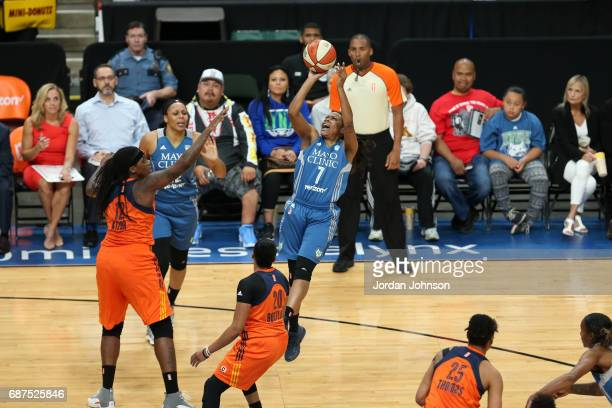 Jia Perkins of the Minnesota Lynx shoots the ball against the Phoenix Mercury on May 23 2017 at Xcel Energy Center in St Paul Minnesota NOTE TO USER...