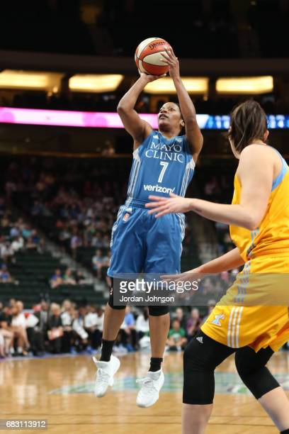 Jia Perkins of the Minnesota Lynx shoots the ball during a game against the Chicago Sky on May 14 2017 at Xcel Energy Center in St Paul Minnesota...