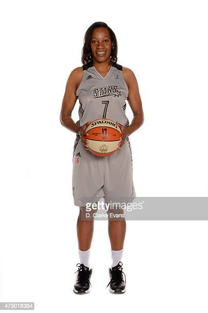 Jia Perkins of the San Antonio Stars poses for a portrait during Media Day at the Freeman Coliseum on May 26 2015 in San Antonio Texas NOTE TO USER...