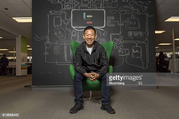 Jia 'YT' Yueting chief executive officer of LeEco Global Group sits for a photograph at the company's headquarters in San Jose California US on...