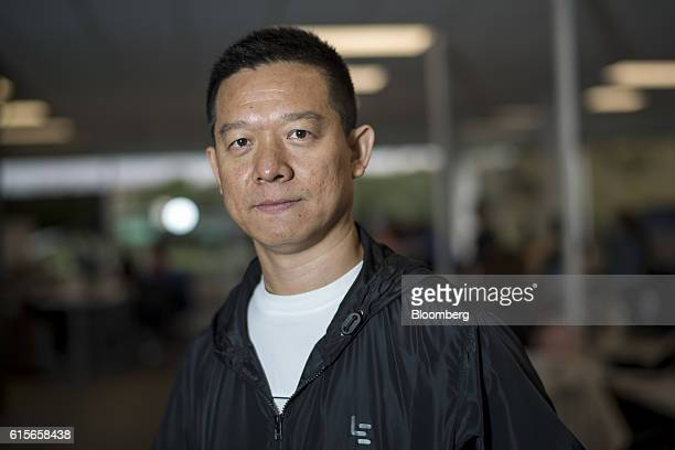 Jia 'YT' Yueting chief executive officer of LeEco Global Group stands for a photograph at the company's headquarters in San Jose California US on...