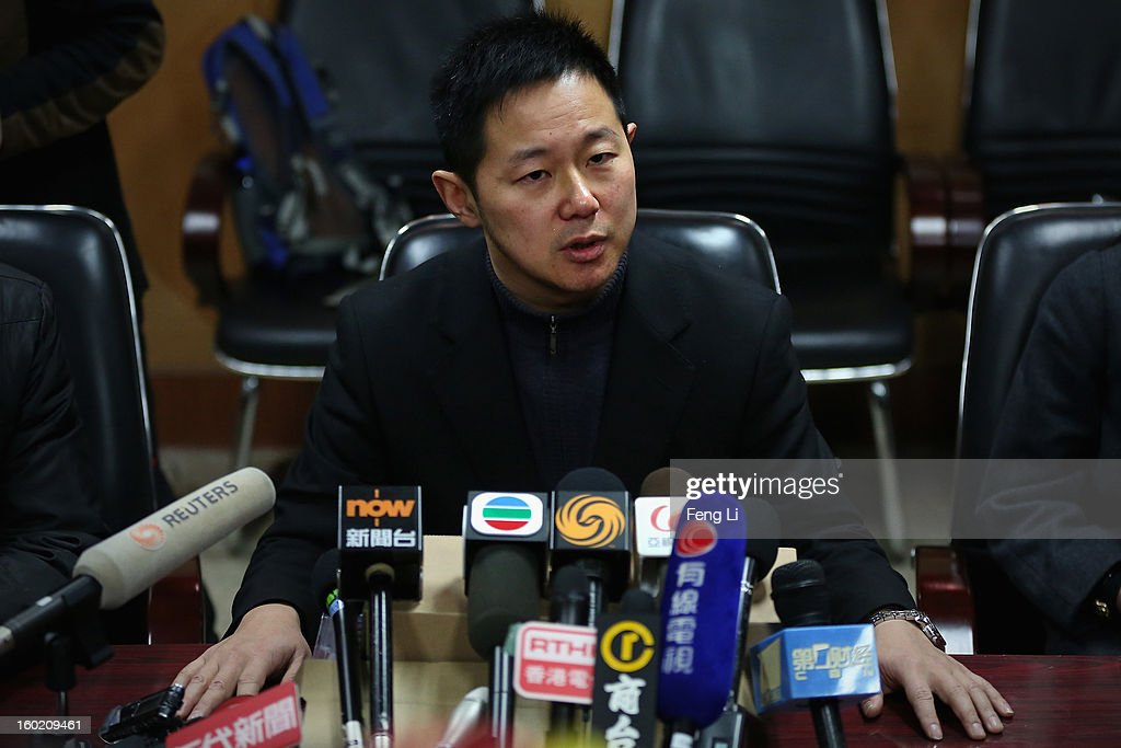 Jiang Hao, Vice-president of Guiyang Intermediate People's Court attends a press conference on former Chinese leader Bo Xilai's case on January 28, 2013 in Guiyang, China. 'It is fake information. The trial of Bo Xilai will not open in Guiyang today', Jiang Hao said. The trial of Bo Xilai is expected to open after the 'two sessions' in March, China's official newspaper Global Times reports on Monday.