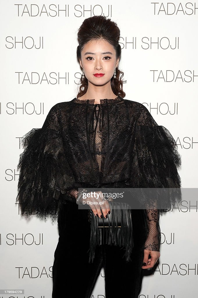 Jiang Xin attends the Tadashi Shoji Spring 2014 fashion show at The Stage Lincoln Center on September 5, 2013 in New York City.