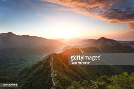 Jiankou Great Wall Sunrise : Stock Photo