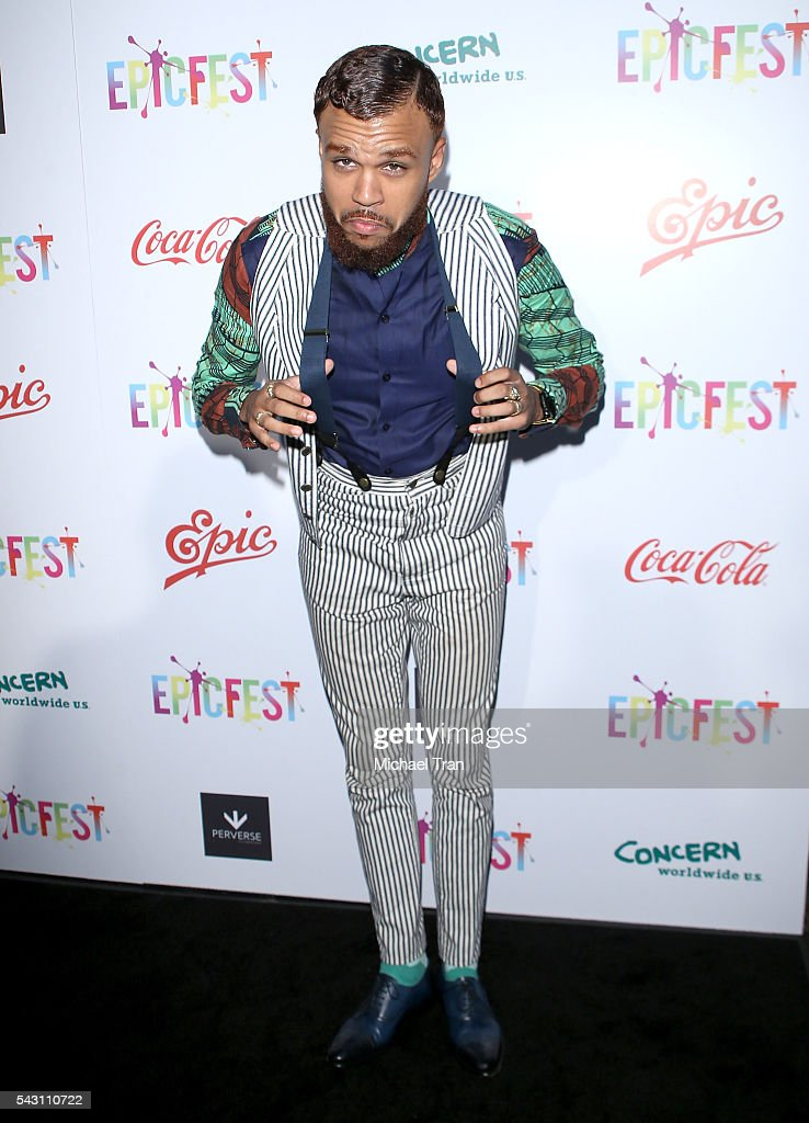Jidenna arrives at the 2nd Annual Epic Fest held at Sony Pictures Studios on June 25, 2016 in Culver City, California.