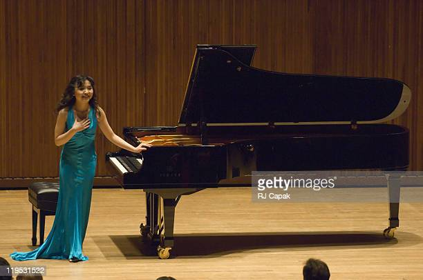 Jie Chen performance during Yamaha Corporation of America Presents The Lincoln Center Debut of Pianist Jie Chen at Alice Tully Hall at Lincoln Center...