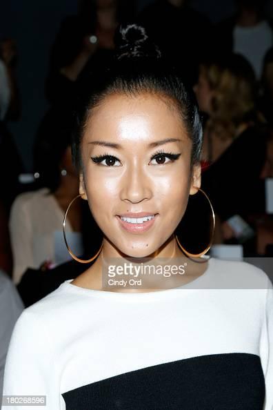 Jie Ke Jun Yi attends the Fashion Shenzhen fashion show during MercedesBenz Fashion Week Spring 2014 at The Studio at Lincoln Center on September 10...