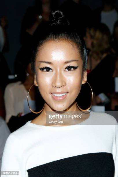 Jie Ke Jun Yi attends the Fashion Shenzhen fashion show during MercedesBenz Fashion Week Spring 2014 at The Studio at Lincoln Center on September 10...