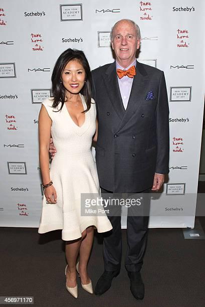 Jieun Wax and David Wax attend the 2014 Take Home A Nude Event at Sotheby's on October 9 2014 in New York City