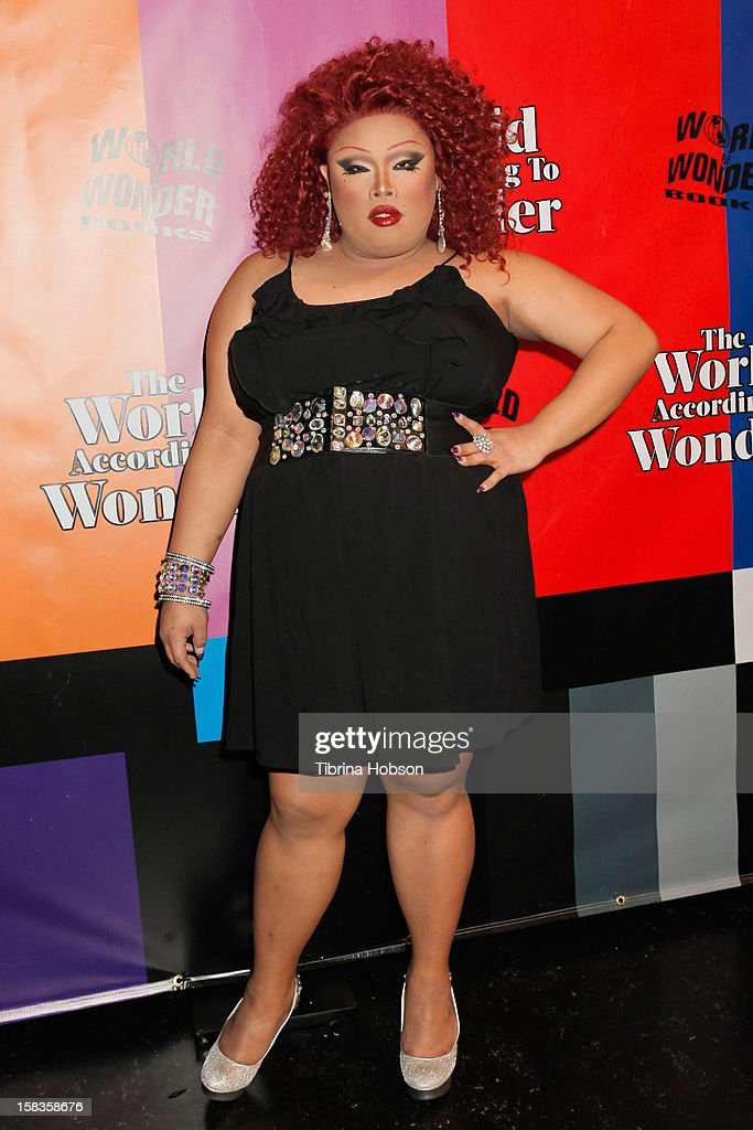Jiggly Caliente attends the 'World Of Wonder' book release party at Universal Studios Backlot on December 13, 2012 in Universal City, California.