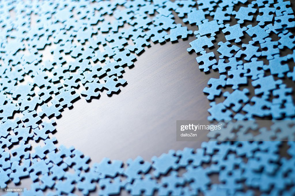 Jigsaw heart : Stock Photo