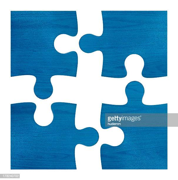 Jigsaw Puzzles (Clipping path!) isolated on white background