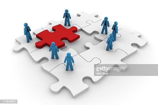 Jigsaw teamwork