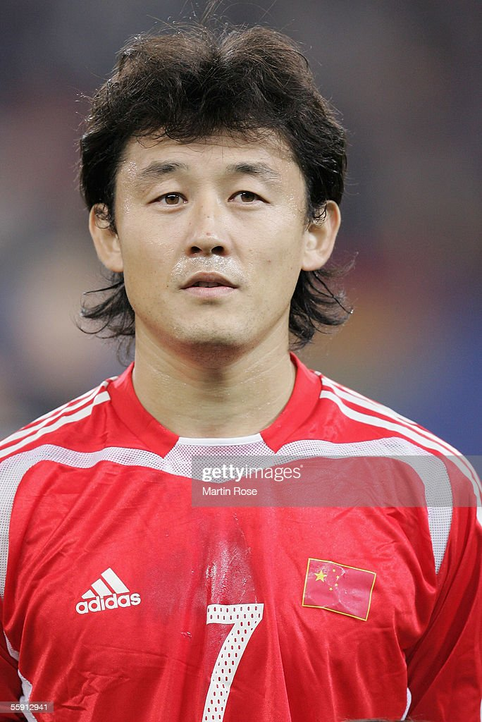 Jihai Sun of China poses before the friendly game between Germany and China at the AOL Arena on October 12, 2005 in Hamburg, Germany.