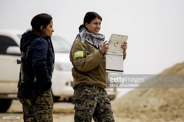 Jihan Cheikh Ahmad spokeswoman for the 'Wrath of Euphrates' campaign and an Arab commander in the Syrian Democratic Forces made up of USbacked...