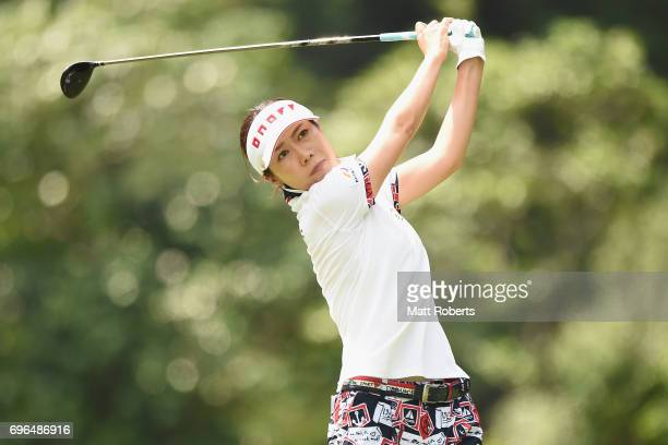JiHee Lee of South Korea hits her tee shot on the 2nd hole during the first round of the Nichirei Ladies at the Sodegaura Country Club Shinsode...