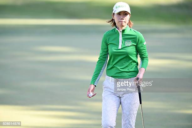 JiHee Lee of South Korea Looks on during the first round of the World Ladies Championship Salonpas Cup at the Ibaraki Golf Club on May 5 2016 in...