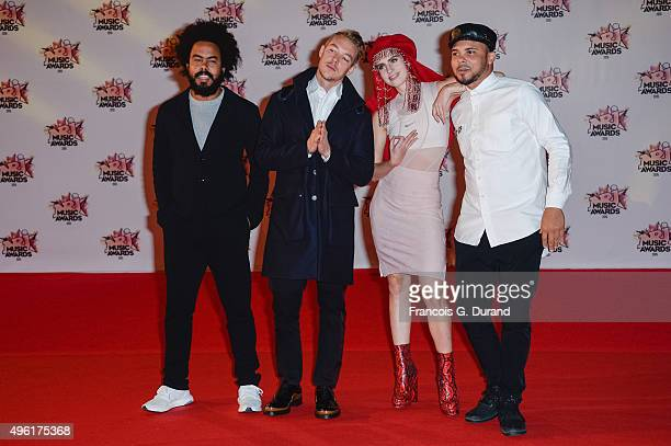 Jilionnaire Diplo and Walshy Fire from Major Lazer attend the 17th NRJ Music Awards at Palais des Festivals on November 7 2015 in Cannes France