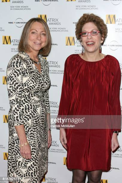 Jill Abramson and Susan Chira attend New York WOMEN IN COMMUNICATIONS Presents The 2010 MATRIX AWARDS at Waldorf Astoria on April 19 2010 in New York...
