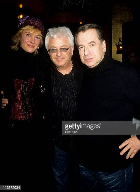 Jill and Marc Cerrone and Paul Loup Suiltzer during Smirnoff Russian New Year Party at Man Ray in Paris France