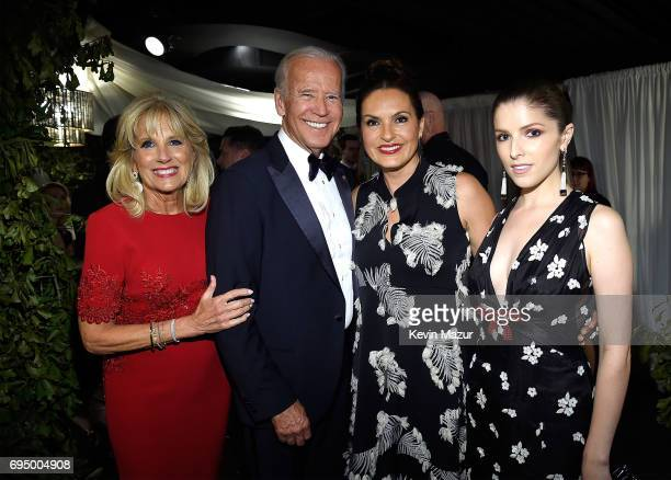 Jill Biden Former Vice President Joe Biden Mariska Hargitay and Anna Kendrick attend the 2017 Tony Awards at Radio City Music Hall on June 11 2017 in...