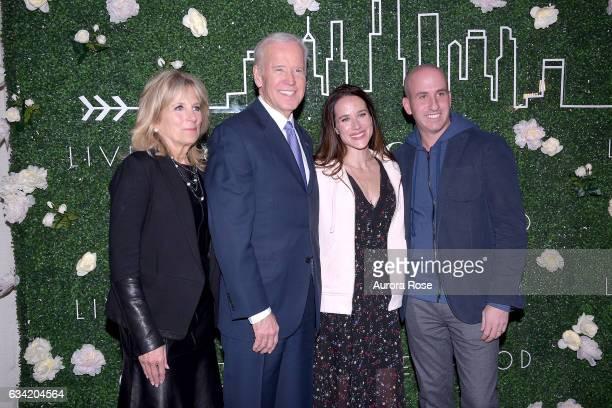 Jill Biden Joe Biden Ashley Biden and Jonathan Greller attend Gilt x Livelihood Launch Event at 6 St John's Lane on February 7 2017 in New York City