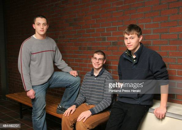 From left to right Nathan Szanton of Portland High School Joshua Tingley of Deering High School and Christopher Pulsoni of Casco Bay High School are...