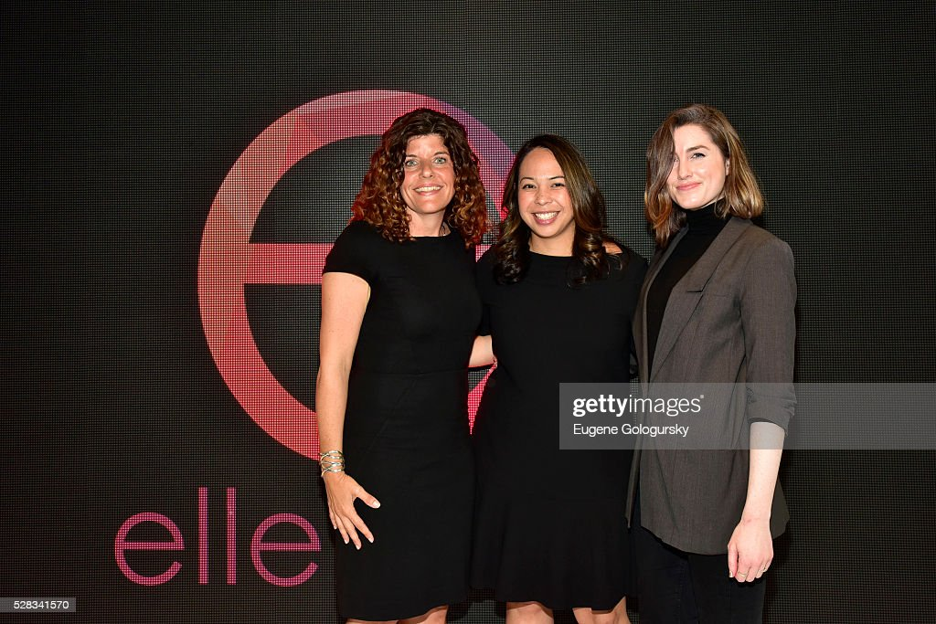 Jill Braff GM, Ellen Digital Ventures, Alana Calderone Polcsa VP, Branded Entertainment and Jackie Dunbar attend the Ellen Digital New Front on May 4, 2016 in New York City.