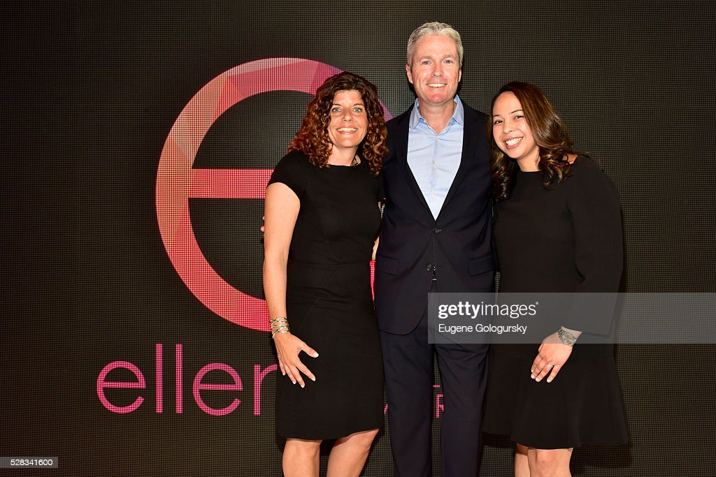 Jill Braff GM, Ellen Digital Ventures, David McGuire EVP Current Programming, Telepictures and Alana Calderone Polcsa VP, Branded Entertainment attend the Ellen Digital New Front on May 4, 2016 in New York City.