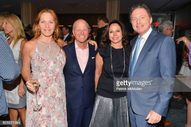 Jill Brooke James Dunning Jr Lisa Cohen and James Cohen attend Magrino PR 25th Anniversary at Bar SixtyFive at Rainbow Room on July 25 2017 in New...