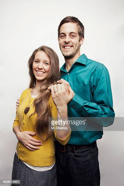 Jill Duggar and Derick Dillard are photographed for People Magazine on March 30 2014 in Bentonville Arkansas