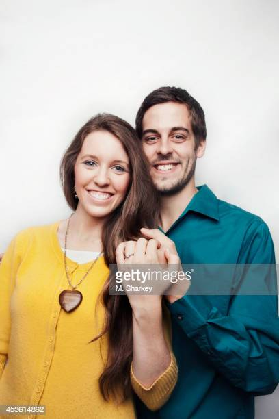 Jill Duggar and Derick Dillard are photographed for People Magazine on March 30 2014 in Bentonville Arkansas PUBLISHED IMAGE