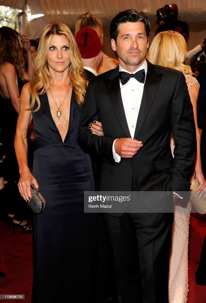 Jill Fink and Patrick Dempsey attends the 'Alexander McQueen: Savage Beauty' Costume Institute Gala at The Metropolitan Museum of Art on May 2, 2011 in New York City.