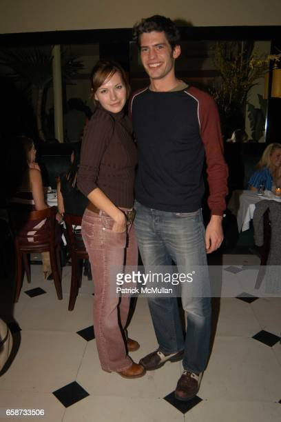 Jill Flint and David Lopes attend Diane von Furstenberg After Party at Indochine on February 8 2004 in New York City