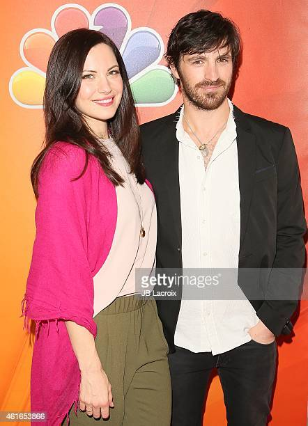 Jill Flint and Eoin Macken attend the NBCUniversal 2015 Press Tour at the Langham Huntington Hotel on January 16 2015 in Pasadena California