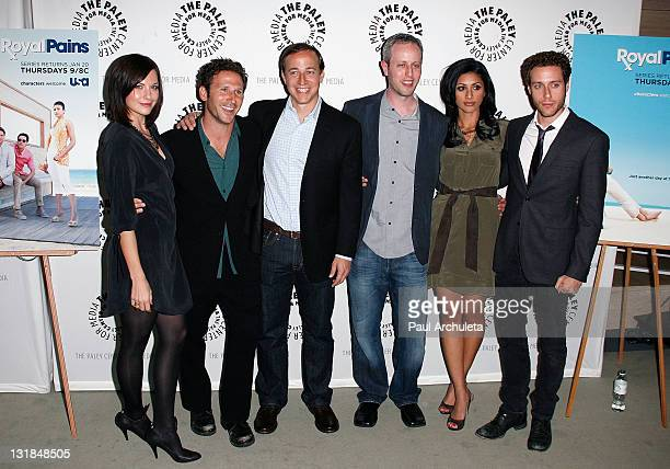 Jill Flint Mark Feuerstein Michael Rauch Andrew Lenchewski Reshma Shetty and Paulo Costanzo attend the presention of 'Royal Pains' at The Paley...