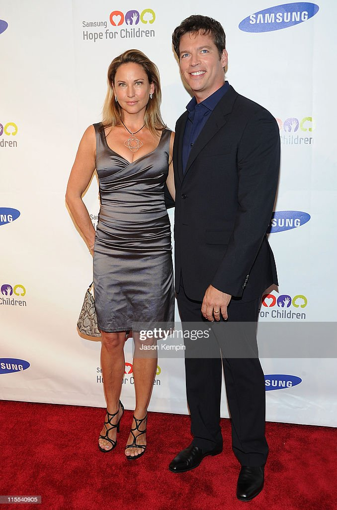 Jill Goodacre and Harry Connick Jr. attend the Samsung Hope for Children gala at Cipriani Wall Street on June 7, 2011 in New York City.