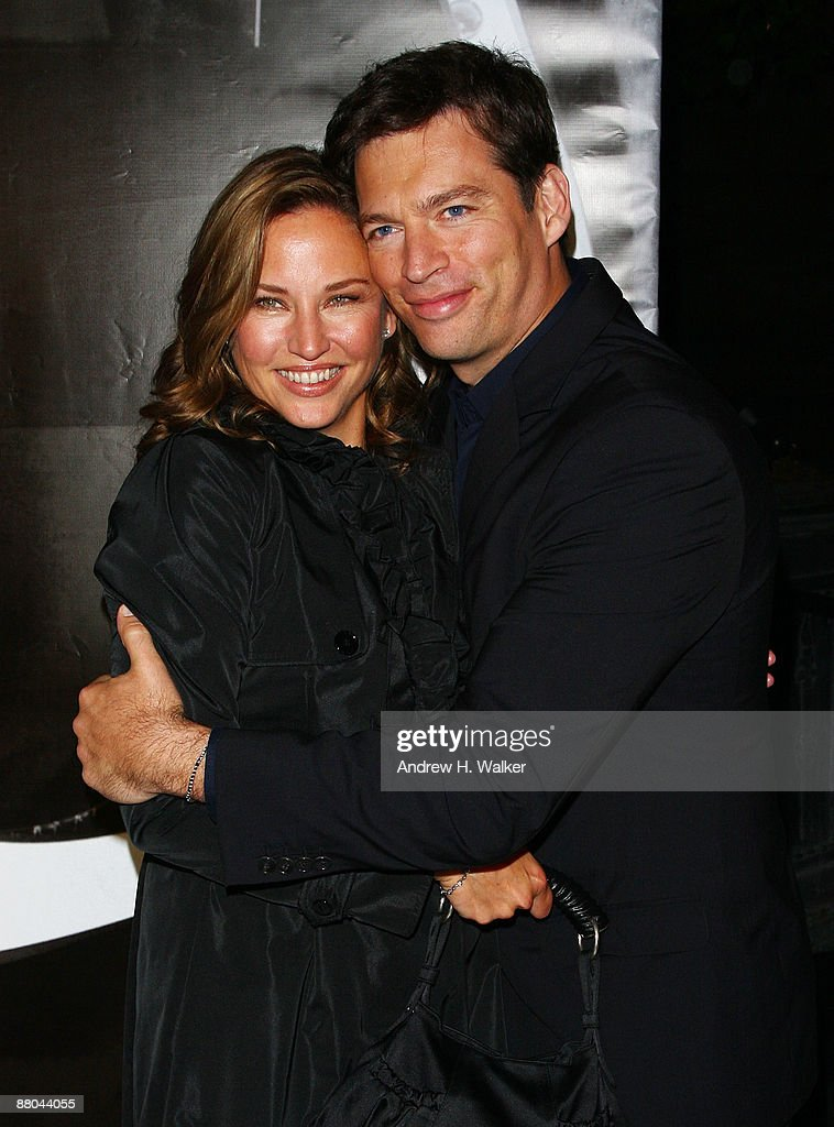 Jill Goodacre and Harry Connick, Jr. walk the red carpet during Burberry Day at The New York Palace Hotel on May 28, 2009 in New York City.