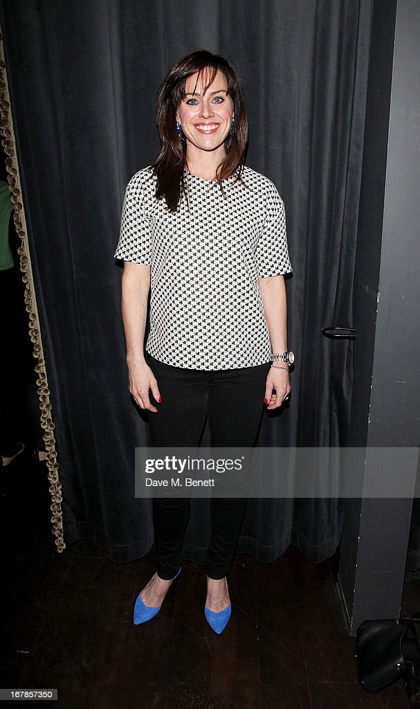 Jill Halfpenny attends an after party celebrating the press night performance of the Menier Chocolate Factory's 'Merrily We Roll Along', following its transfer to the Harold Pinter Theatre, at Grace Restaurant on May 1, 2013 in London, England.
