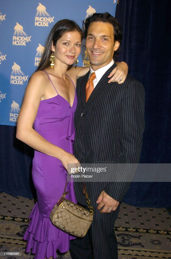 Jill Hennessy and Paolo Santopietro during The Phoenix House Benefit Honors Jeff Zucker with Phoenix Rising Award at The Waldorf Astoria Hotel in New...