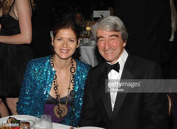 Jill Hennessy and Sam Waterston during 32nd Annual American Women in Radio Television Gracie Allen Awards Inside at Marriott Marquis in New York City...