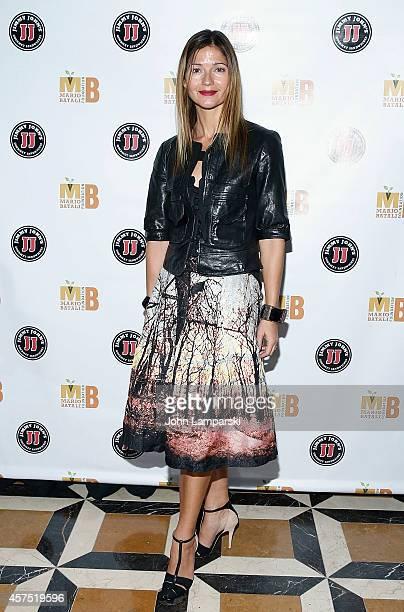 Jill Hennessy attends 3rd Annual Mario Batali Foundation Benefit Dinner at Del Posto Ristorante on October 19 2014 in New York City