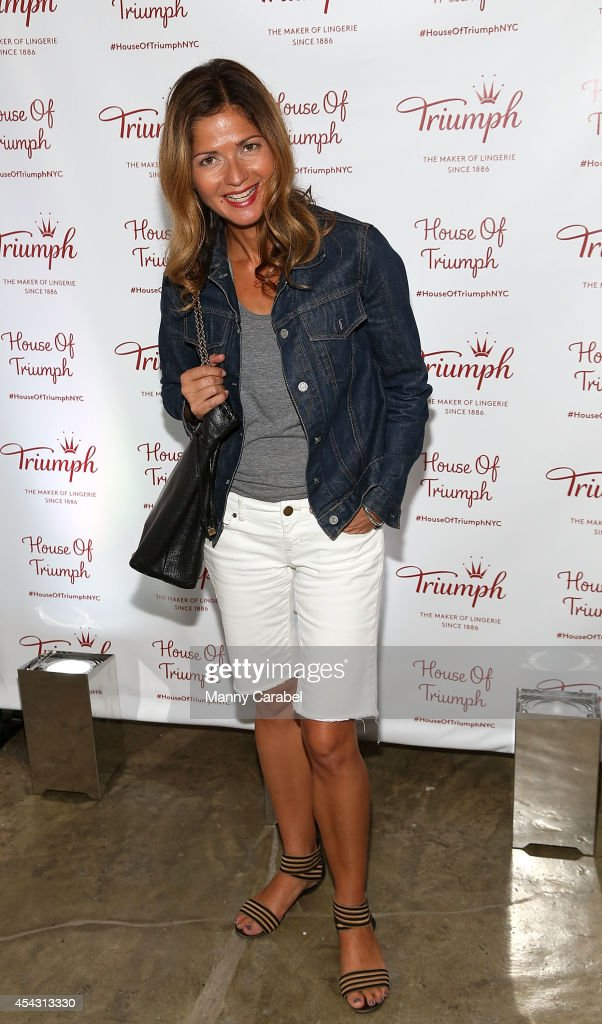 Jill Hennessy attends Triumph Lingerie's Magic Wire Launch Event at The Old Bowery Station on August 28 2014 in New York City