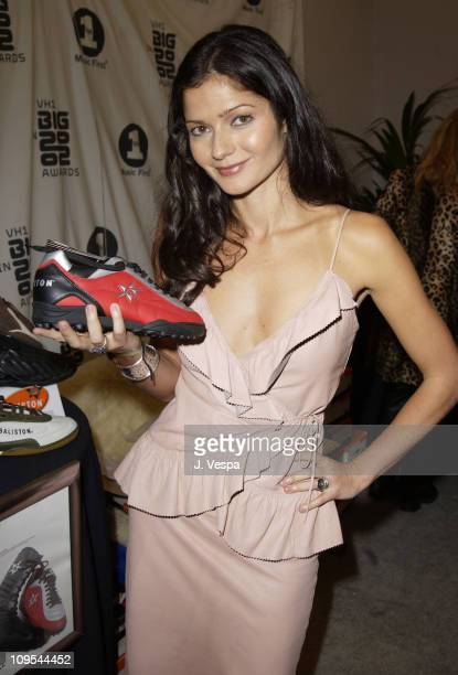 Jill Hennessy with Baliston Shoes during VH1 Big in 2002 Awards Backstage Creations Talent Retreat Show Day at Grand Olympic Auditorium in Los...