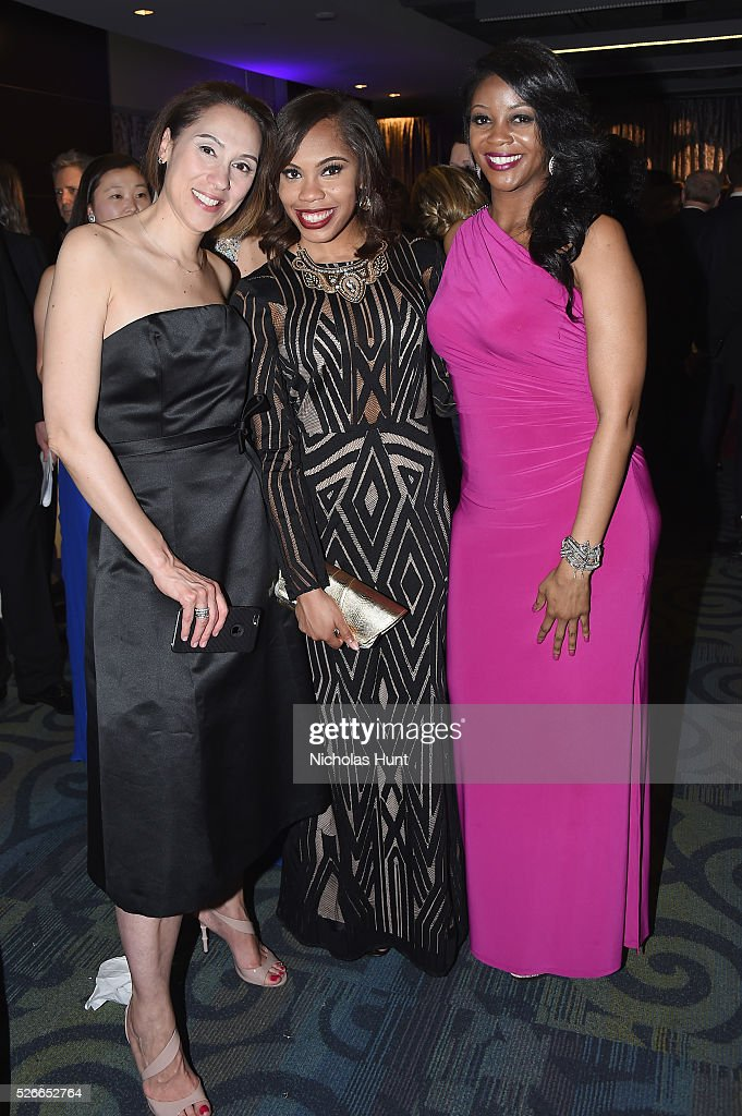 Jill Hudson Danielle Cadet and Kelley Evans attend the Yahoo News/ABC News White House Correspondents' Dinner PreParty at Washington Hilton on April...