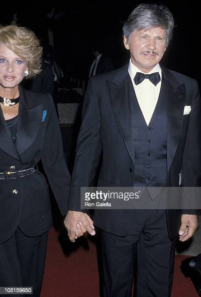 Jill Ireland and Charles Bronson during 'Crimes of the Heart' Premiere December 3 1986 at Plitt Theater in Century City California United States