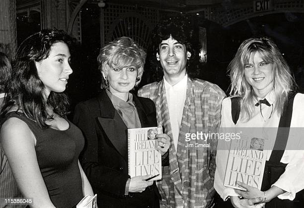 Jill Ireland and children during Party for Jill Ireland's New Book 'Life Lines' at Bistro Restaurant in Beverly Hills California United States